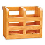 Bamboo 2-Compartment Utensil Caddy