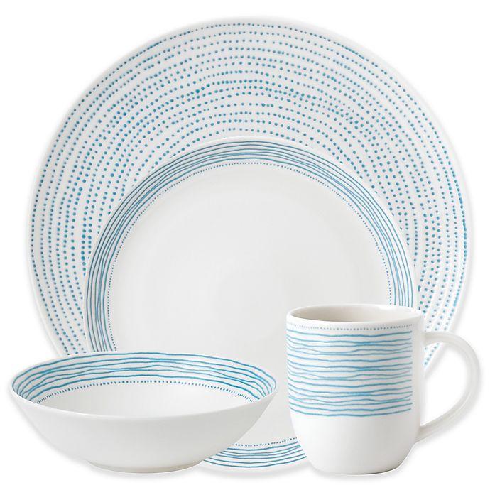 Alternate image 1 for ED Ellen DeGeneres Crafted by Royal Doulton® Polar Blue Dots 16-Piece Dinnerware Set