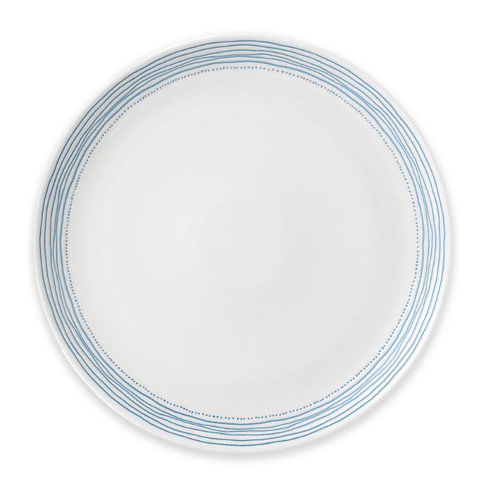 Alternate image 1 for ED Ellen DeGeneres Crafted by Royal Doulton® Polar Blue Dots Dinner Plate