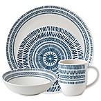 ED Ellen DeGeneres Crafted by Royal Doulton® Dark Blue Chevron 16-Piece Dinnerware Set