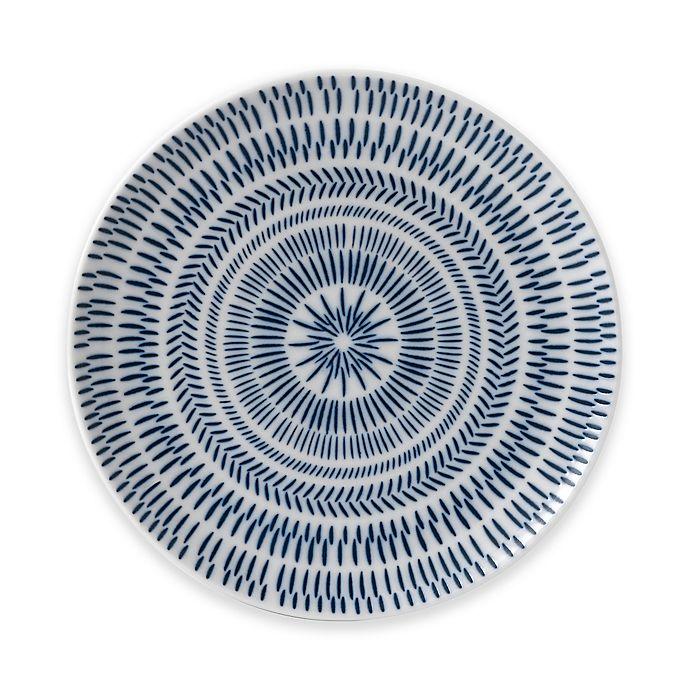 Alternate image 1 for ED Ellen DeGeneres Crafted by Royal Doulton® Dark Blue Chevron Salad Plate