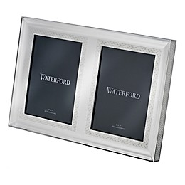 Waterford® Lismore Diamond 5-Inch x 7-Inch Double Picture Frame in Silver