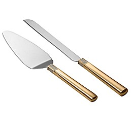 Waterford® Lismore Diamond 2-Piece Cake Knife and Server Set in Gold