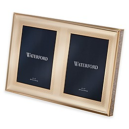 Waterford® Lismore Diamond 5-Inch x 7-Inch Double Photo Frame in Gold