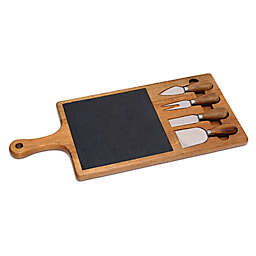 Lipper Interntaional Acacia and Slate 5-Piece Cheese Serving Set
