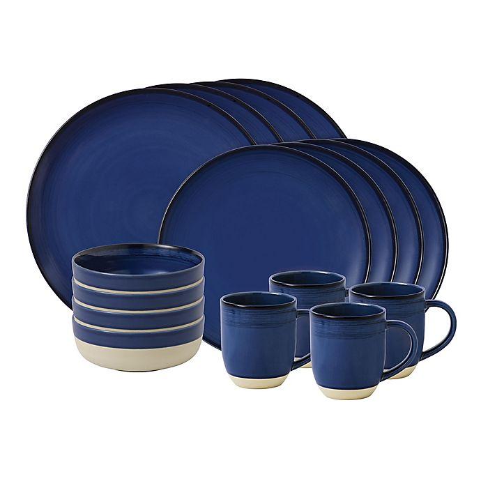 Alternate image 1 for ED Ellen DeGeneres Crafted by Royal Doulton® Brushed Glaze 16-Piece Dinnerware Set in Dark Blue