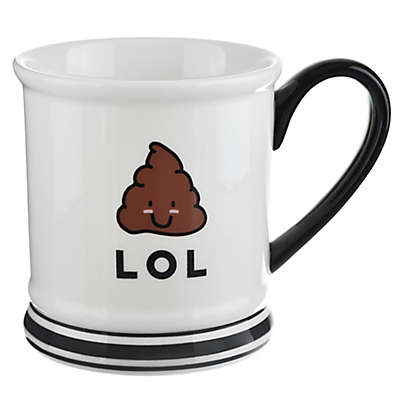 Formations Poop Emoji Mug in White/Black