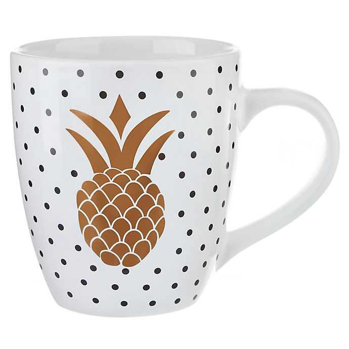 Alternate image 1 for Formations Pineapple Jumbo Mug in White/Gold