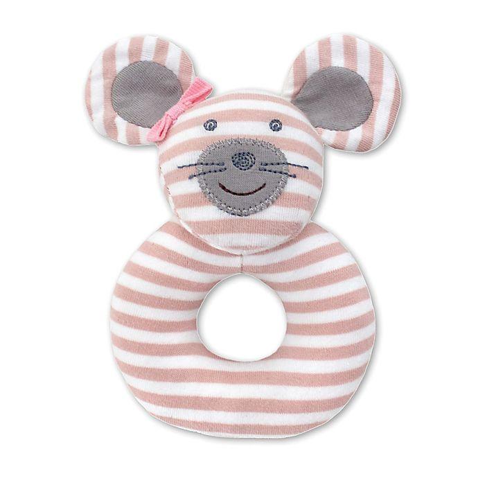 Alternate image 1 for Organic Farm Buddies™ Ballerina Mouse Teething Rattle