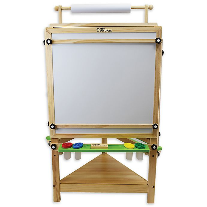 Alternate image 1 for Little Partners Tri-Side Learn and Play Art Center Easel