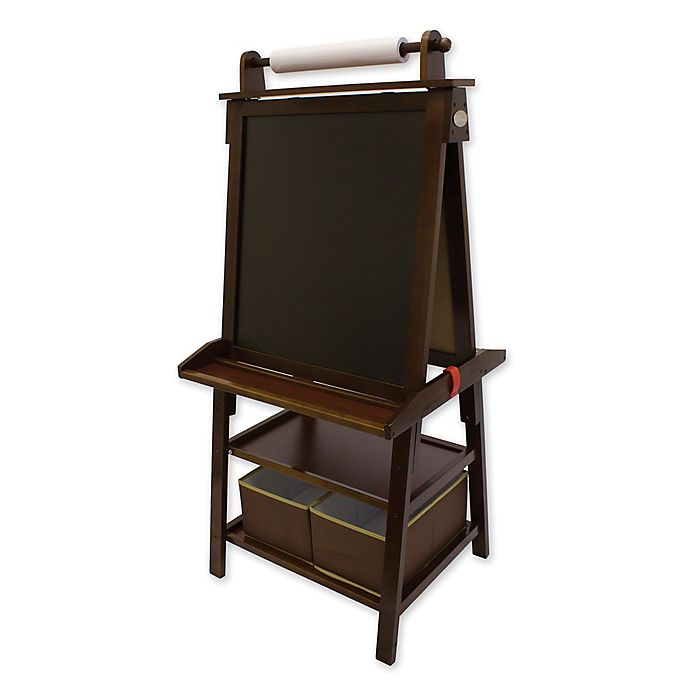 Alternate image 1 for Little Partners Deluxe Learn and Play Art Center Easel in Espresso