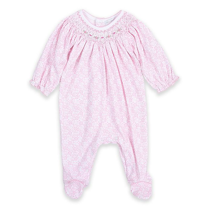 a35623e5d Magnolia Baby™ Pima Cotton Bishop-Style Smocked Footie in Pink   Bed ...