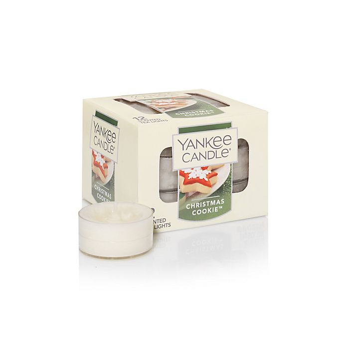 Alternate image 1 for Yankee Candle® Christmas Cookie Tea Light Accent Candles (Box of 12)