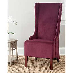 Safavieh Bacall Velvet Dining Chair in Bordeaux