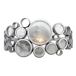 Varaluz Fascination Semi-flush Mount Wall Light in Silver
