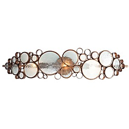 Varaluz Fascination Hammered Ore Wall Sconce in Dark Brown