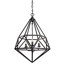 Varaluz® Facet Pendant Light in Forged Iron