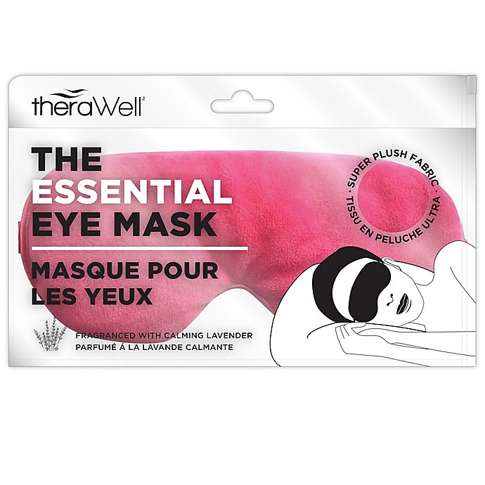 Alternate image 1 for Therawell Essentials Eye Mask in Pink