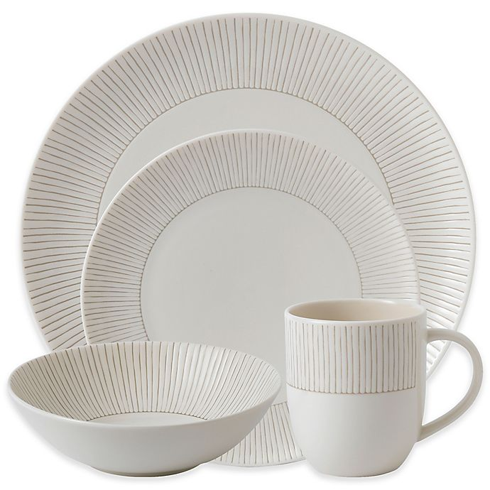 Alternate image 1 for ED Ellen DeGeneres Crafted by Royal Doulton® Taupe Stripe Dinnerware Collection