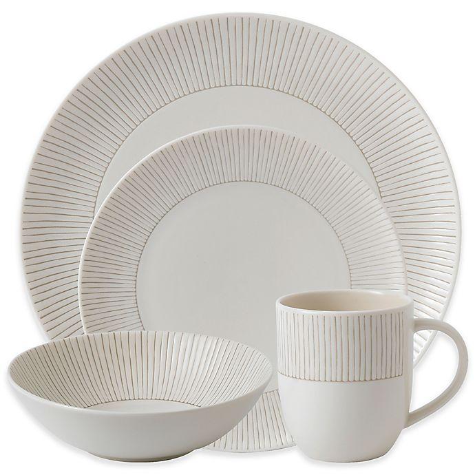 e59b3f4dafdca ED Ellen DeGeneres Crafted by Royal Doulton® Taupe Stripe 16-Piece Dinnerware  Set