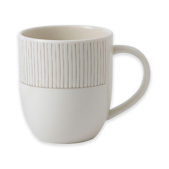 Alternate image 1 for ED Ellen DeGeneres Crafted by Royal Doulton® Taupe Stripe Mug