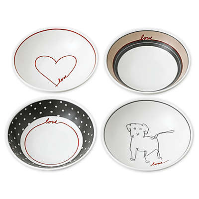 "ED Ellen DeGeneres Crafted by Royal Doulton® ""Love"" Signature Mini Bowls (Set of 4)"
