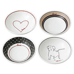 "ED Ellen DeGeneres Crafted by Royal Doulton® ""Love"" Signature Mini Bowls (Set of 4)"