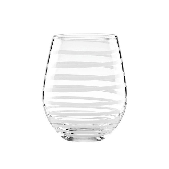 Alternate image 1 for kate spade new york Charlotte Street™ White Stemless Wine Glasses (Set of 2)