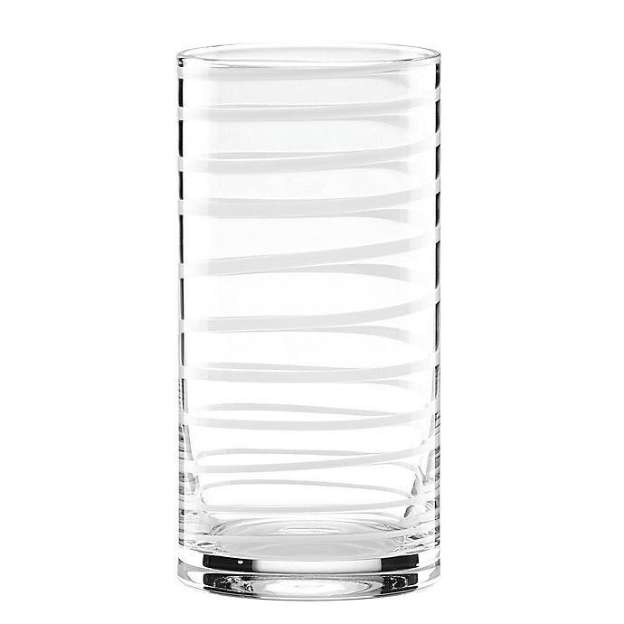 Alternate image 1 for kate spade new york Charlotte Street™ White Highball Glasses (Set of 2)