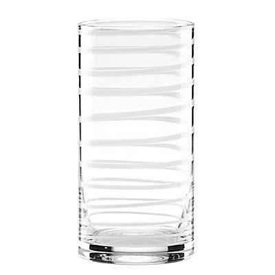 kate spade new york Charlotte Street™ High Ball Glasses in White (Set of 2)