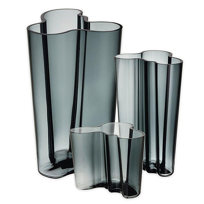 iittala alvar aalto vase in dark grey bed bath beyond. Black Bedroom Furniture Sets. Home Design Ideas