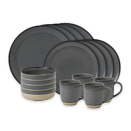 ED Ellen DeGeneres Crafted by Royal Doulton® Brushed Glaze 16-Piece Dinnerware Set in Grey