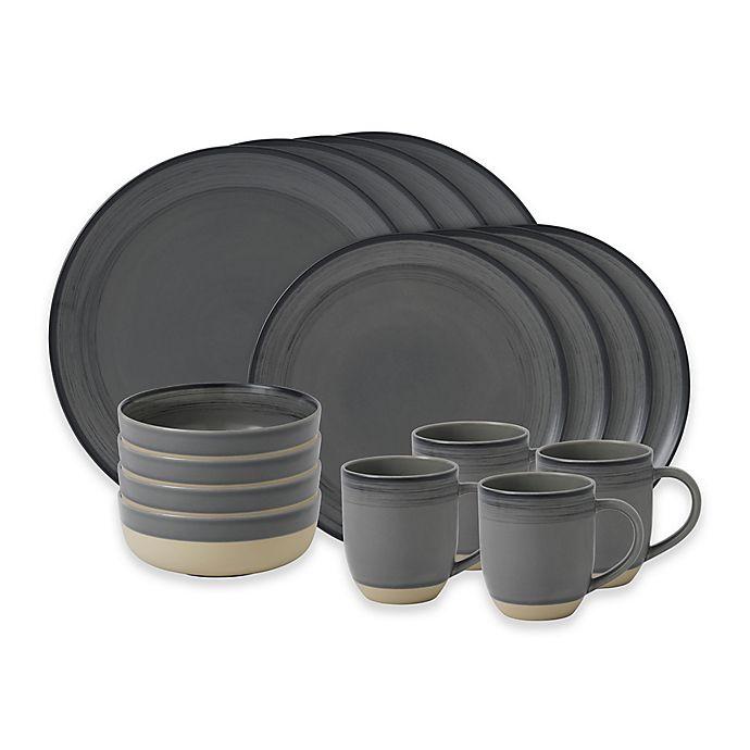 Alternate image 1 for ED Ellen DeGeneres Crafted by Royal Doulton® Brushed Glaze 16-Piece Dinnerware Set in Grey