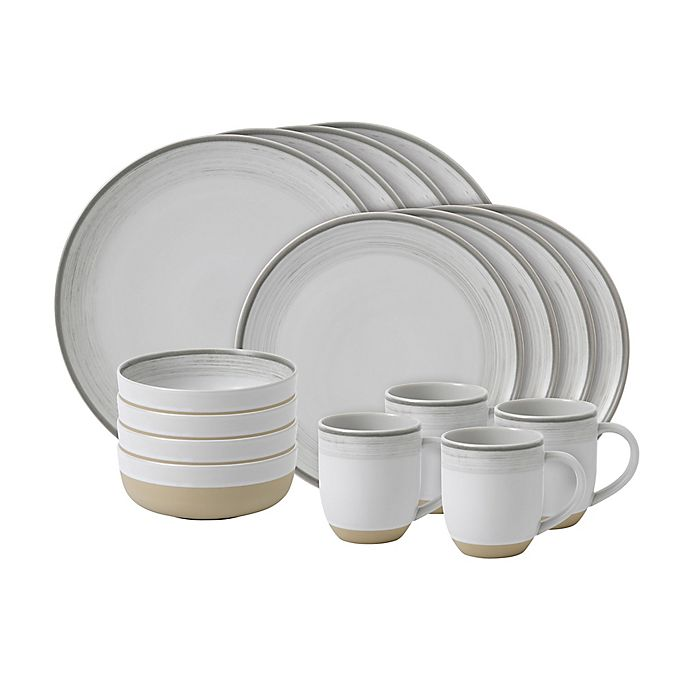 Alternate image 1 for ED Ellen DeGeneres Crafted by Royal Doulton® Brushed Glaze 16-Piece Dinnerware Set in White