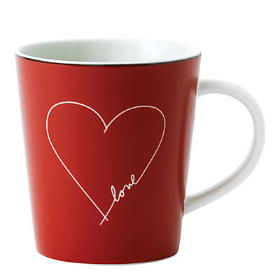 "ED Ellen DeGeneres Crafted by Royal Doulton® ""Love"" Red Heart Mug"