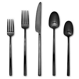 Artisanal Kitchen Supply® Edge 20-Piece Flatware Set in Black Satin