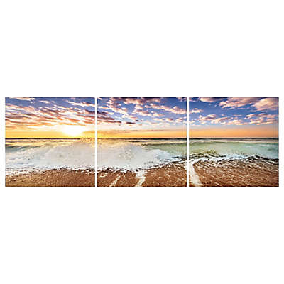 Elementem Photography Crashing Waves 3-Panel Photographic Wall Art Collection