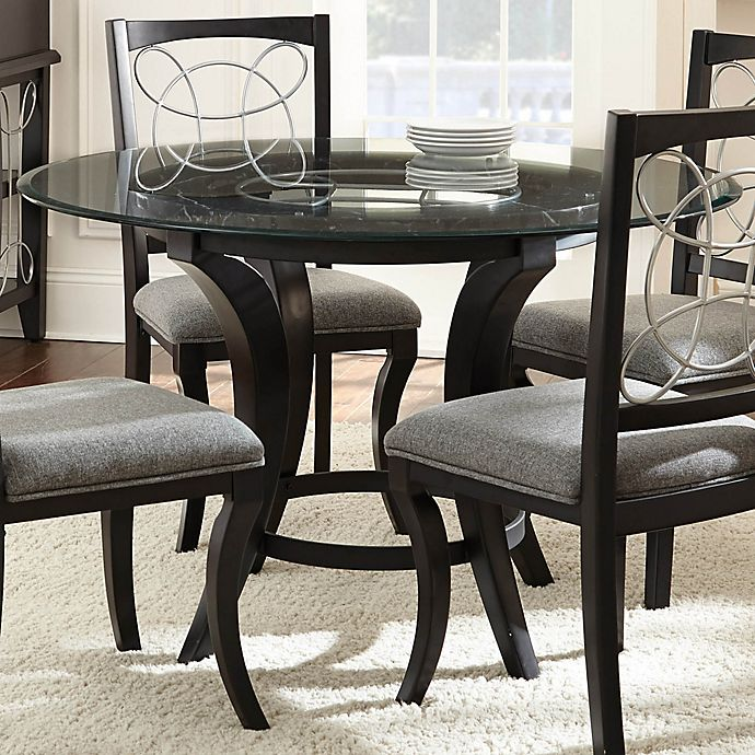 Steve Silver Co. Cayman Dining Table In Glass/Charcoal