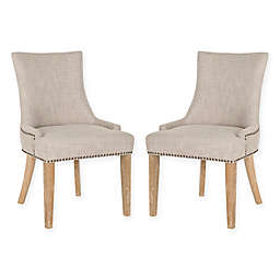 Safavieh Lester Dining Chairs in Silver (Set of 2)