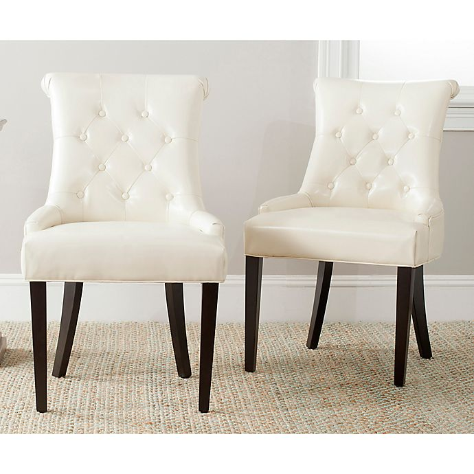 Alternate image 1 for Safavieh Bowie Side Chairs in Cream (Set of 2)