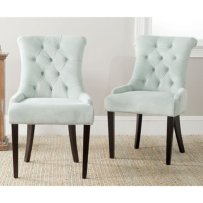 Alternate image 1 for Safavieh Bowie Side Chairs in Light Blue (Set of 2)