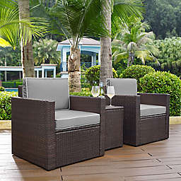 Crosley Palm Harbor 3-Piece Outdoor Wicker Seating Set