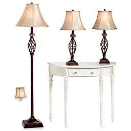Bridge Street 3-Piece Marble Twist Lamp Set