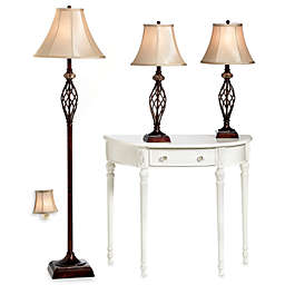 Bridge Street 3-Piece Marble Twist Lamp Set