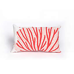 Liora Manne Coral Fan Oblong Throw Pillow in Coral