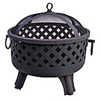 Landmann USA Garden Lights Baton Rouge Firepit in Black