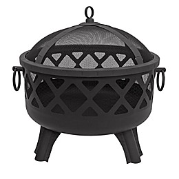 Landmann USA Garden Lights Sarasota Fire Pit in Black