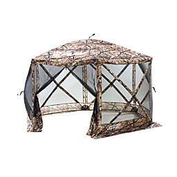 Clam Outdoors Quick-Set® Escape™ 6-Sided Screen Shelter with Wind Panel Flaps in Camo