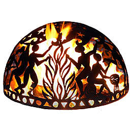 Full Moon Party Wood Burning Fire Dome in Black