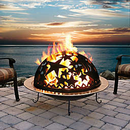 Starry Nite Wood Burning Fire Dome in Black